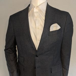 Joseph Abboud Blue Chalk Stripe SC 40S Excellent